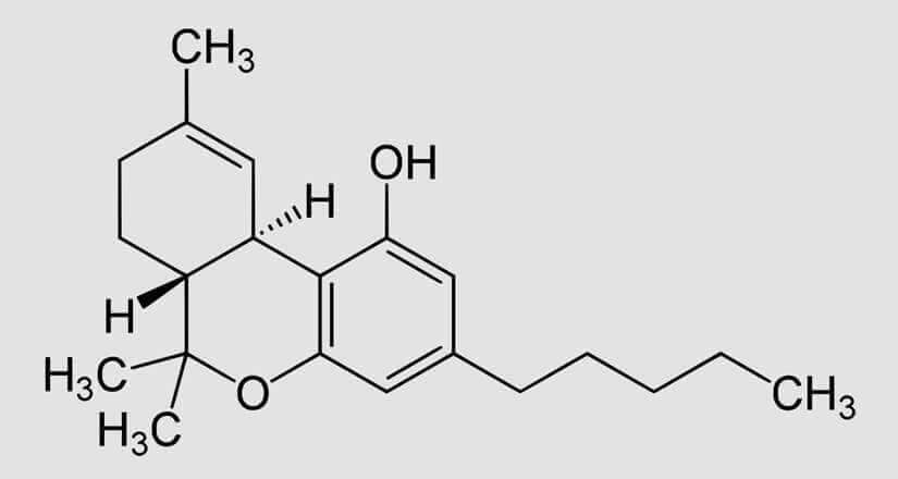 chemische Formel des THC