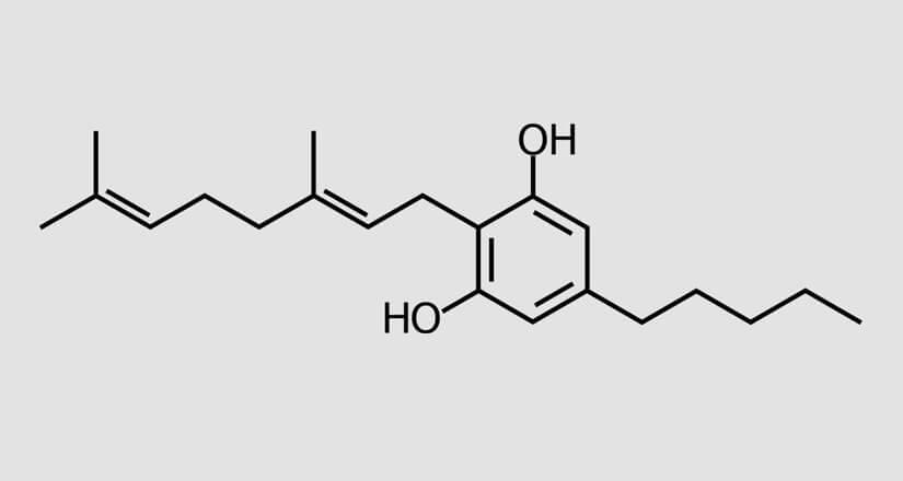 chemische Formel des CBG