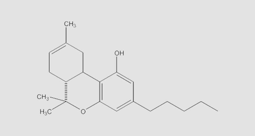 chemische Formel des THC-8